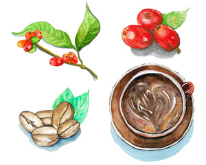 Coffee, Watercolor