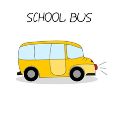 School bus. Hand drawing. Doodle style. Illustration for your design.
