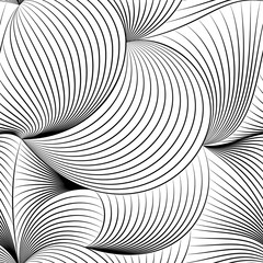 Black and white seamless pattern with modern style.