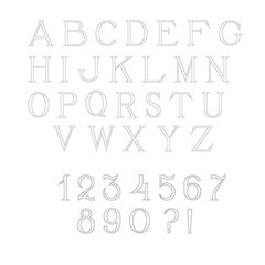 Simple and elegant handcrafted alphabet