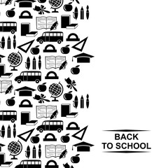 Back to school greeting card vertical design