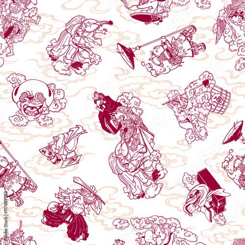 妖怪のイラストパターンfotoliacom の ストック画像とロイヤリティ