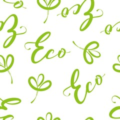 seamless pattern for eco product design natural background