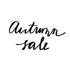 Autumn Sale Hand drawn lettering card