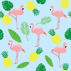 Vector Flamingos Seamless