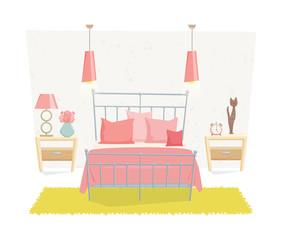 Cute bedroom interior