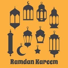 Ramadan Kareem - Islamic Holy Nights, Theme Design background, R