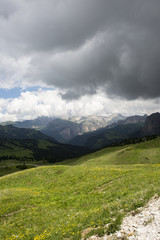 mountain panorama of the Dolomites