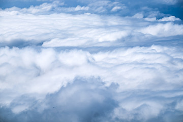 Cloud fog white on blue sky