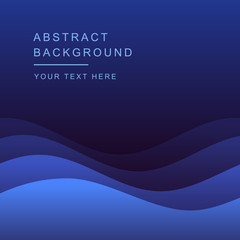 Blue vector Template Abstract background