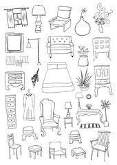 Furniture doodles