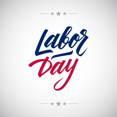 Labor day handwritten inscription. Hand Drawn element for your design. Vector illustration.