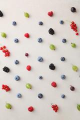 Fresh summer berries background
