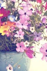 Grußkarte - bunter Blumenstrauß - Wildblumen selbstgepflückt -