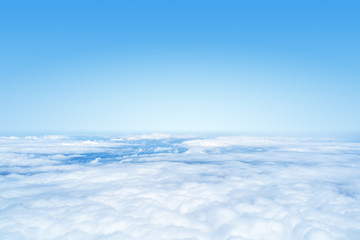 flight over the clouds background
