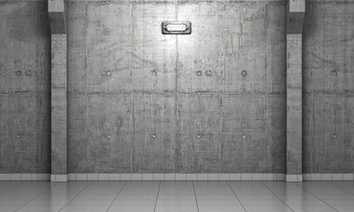 Wall Mural - Empty dark abstract concrete room perspective interior. 3d illus
