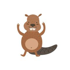 Humanized Beaver Greeting