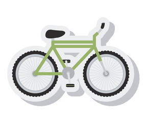 bicycle vehicle sport isolated icon vector illustration design