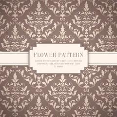 Ornamental flowers pattern