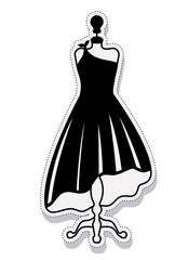 female mannequin isolated icon vector illustration design