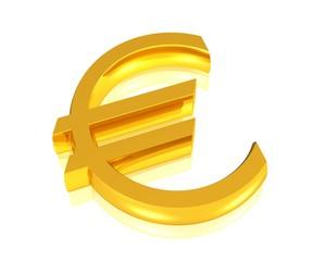 goldenes Eurosymbol