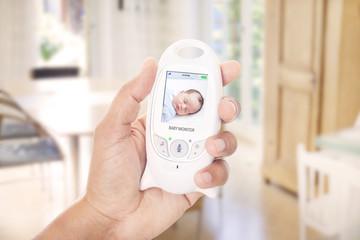 Monitoring sleeping baby through baby monitor