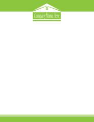 House Real Estate Logo Letterhead Green