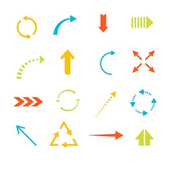 Colorful arrows collection