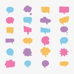 Colourful speech bubble collection