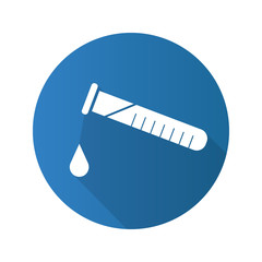 Chemical experiment flat design long shadow icon
