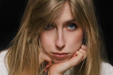 Beautiful Female Face Closeup