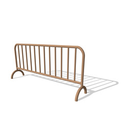 Barricade.Isolated on white.3d Vector illustration.