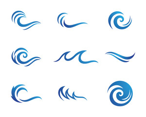 Water and wave logo