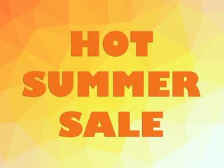 Orange Hot summer sale discount banner