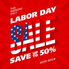 Labor Day Sale advertising banner design