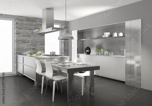 """Küchenzeile Einbauküche Unterschied ~ """"küchenzeile, küche, einbauküche"""" stockfotos und lizenzfreie bilder auf fotolia com bild 117744508"""