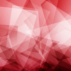 Red and white polygonal mosaic background. Vector illustration