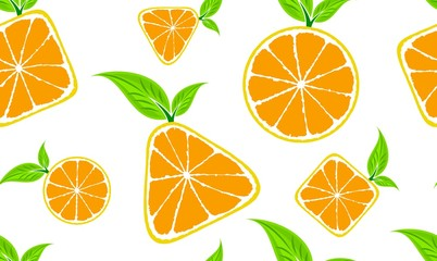 Seamless background with oranges.