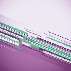 Abstract purple background with lines. Vector illustration