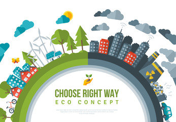 Eco Friendly, Green Energy Concept Frame.