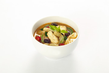 thai curry on white background