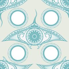 Maori style tattoo seamless pattern for decoration