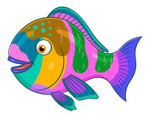 Cartoon parrotfish