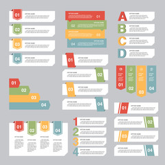 Set of Infographic design, options concept. Template for Business presentation