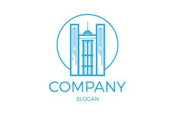 company building vector