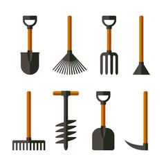 Garden Tools Set. Vector