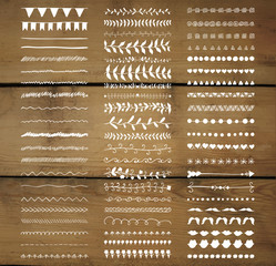 Vector Decorative Hand Drawn Dividers, Line Borders
