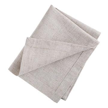Folded linen napkin isolated on white background