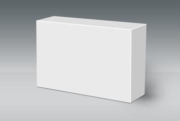 3D White Box on Ground