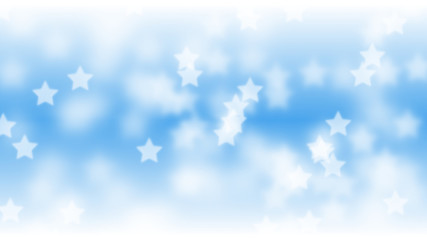 star shaped bokeh effect background in shades of blue and white